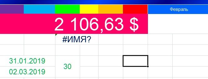 Ячейка Excel отображает #ИМЯ!