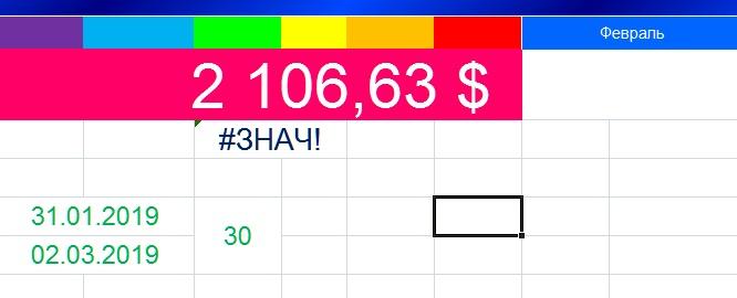 Ячейка Excel отображает #ЗНАЧ!