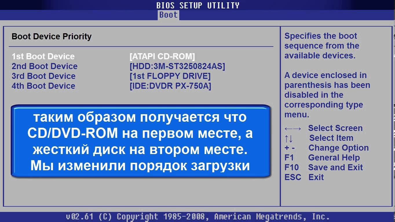 Порядок загрузки Windows